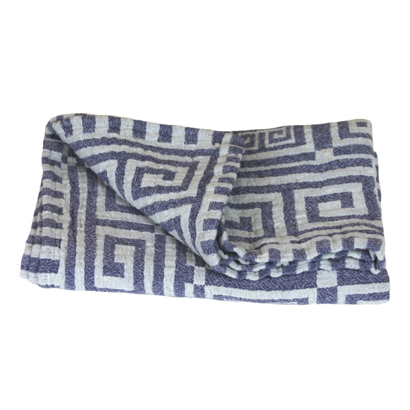 Stonewashed linen linen flax bath towel white blue greek for How to keep white towels white