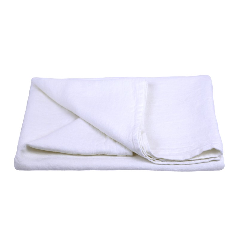 Stonewashed Linen Pure 100 Linen Flax Luxury Bath Towel White