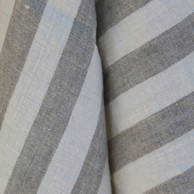 Stonewashed linen - pure 100% linen flax kitchen tea towel grey